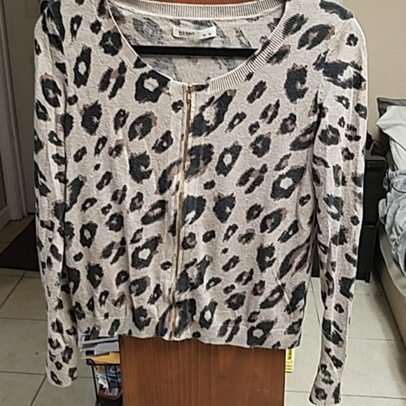 Old Navy Sweaters - Old Navy Zip-up Animal Print Cardigan